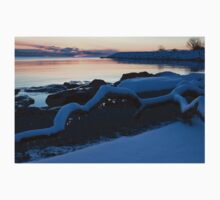 Icy, Snowy Winter Sunrise on the Lake Kids Clothes