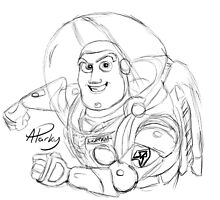 Buzz Lightyear Sketch by APParky