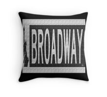 BROADWAY DECO SWING NYC Street Sign  Throw Pillow