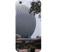Spaceship Earth from the entrance to Epcot iPhone Case/Skin