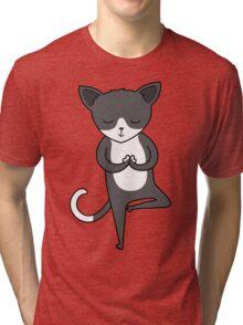 Yoga Cat Tri-blend T-Shirt
