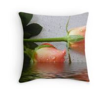 bouquet of peach roses Throw Pillow