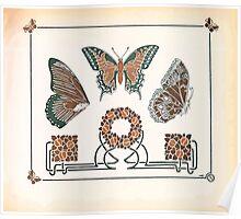 Maurice Verneuil Georges Auriol Alphonse Mucha Art Deco Nouveau Patterns Combinaisons Ornementalis 0049 Poster