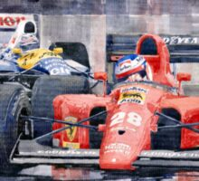 Ferrari F1 Jean Alesi Phoenix US GP Arizona 1991 Sticker