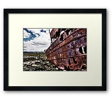 The fallen Plassey Framed Print