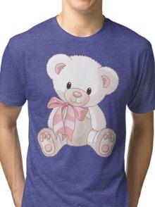 Cute teddy bear with bow Tri-blend T-Shirt