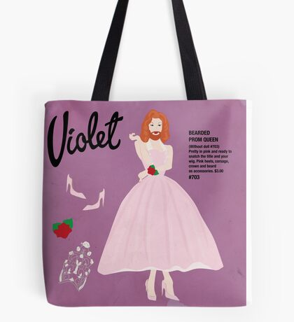 Bearded Prom Queen Tote Bag