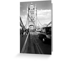 Taxi Journey Greeting Card