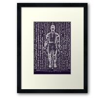 BODY SCAM MATRIX Framed Print