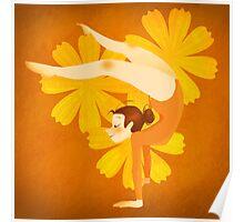 Gymnast Orange Poster