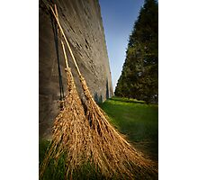 Straw Brooms and  Forbidden Palace Photographic Print