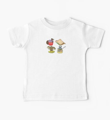 Animals from the Squirrel Song Baby Tee