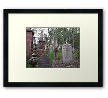 Disney's Haunted Mansion tombstones Framed Print