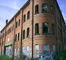 Abandoned Railway Building, Derby by OhBlee