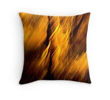 Abstact fire Throw Pillow