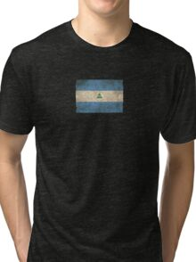Old and Worn Distressed Vintage Flag of Nicaragua Tri-blend T-Shirt