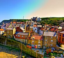 Staithes Fishing Village. by Trevor Kersley
