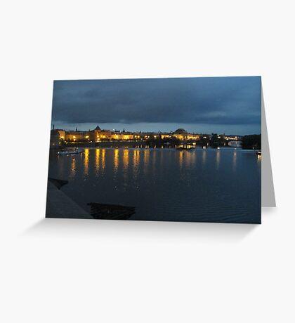 Prague at Night Greeting Card