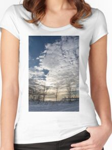 The Pearly Cloud  Women's Fitted Scoop T-Shirt