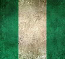 Old and Worn Distressed Vintage Flag of Nigeria by Jeff Bartels