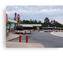 Buses at Disney's Pop Century Resort Canvas Print