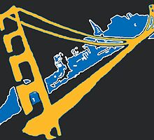 Golden State Warriors Stencil Team Colors Black by dswift