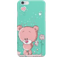 Pink bear in love iPhone Case/Skin