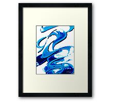 Pure Water 314 - Blue Abstract Art By Sharon Cummings Framed Print