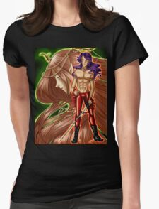 Muerte and Cernunnos Womens Fitted T-Shirt