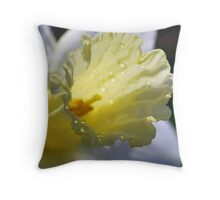 Daffodil Morning View Throw Pillow