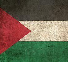 Old and Worn Distressed Vintage Flag of Palestine by Jeff Bartels