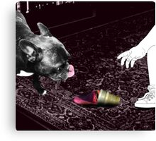 The frenchie will win.. Canvas Print