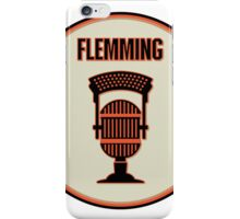 SF Giants Announcer Dave Flemming Pin iPhone Case/Skin