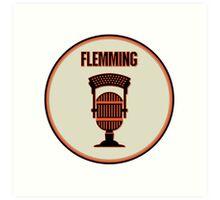 SF Giants Announcer Dave Flemming Pin Art Print