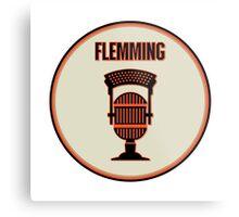 SF Giants Announcer Dave Flemming Pin Metal Print