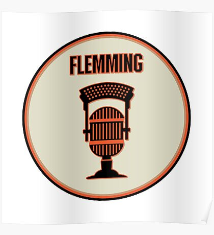 SF Giants Announcer Dave Flemming Pin Poster