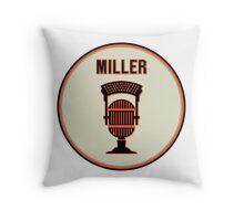 SF Giants HOF Announcer Jon Miller Pin Throw Pillow