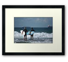 Ready To Hit The Water Framed Print