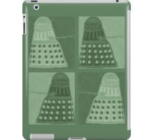 Daleks in negatives - green iPad Case/Skin