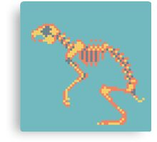 Rabbit Pixel Skeleton Canvas Print
