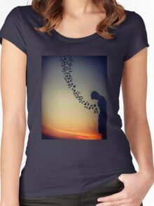 Butterflies in the stomach Women's Fitted Scoop T-Shirt