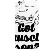 Got Muscle Son V8 Musle Car iPhone Case/Skin