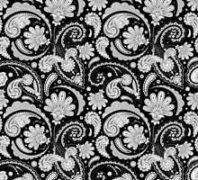 Cute black white paisley patterns by blackwhitephoto