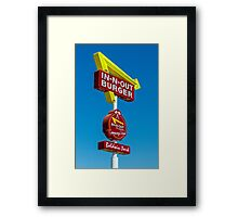 in-n-out Framed Print