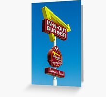 in-n-out Greeting Card