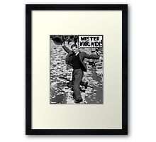 Mister Whirl Wide: Dancing in the Streets Framed Print