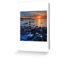 Maughold beach - photography Greeting Card