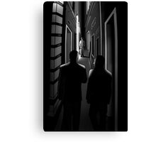 Midnight meeting. Canvas Print
