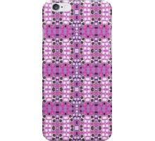 Pink, Purple and Black Abstract Design Pattern iPhone Case/Skin