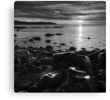 Maughold beach sunrise - photography Canvas Print